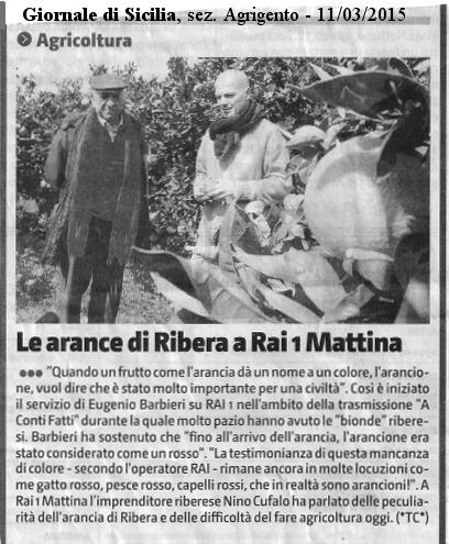 Su Giornale di Sicilia, sezione di Agrigento