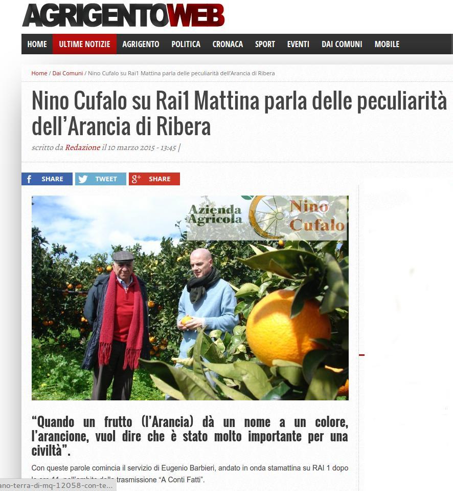 Azienda Cufalo su Agrigentoweb.it