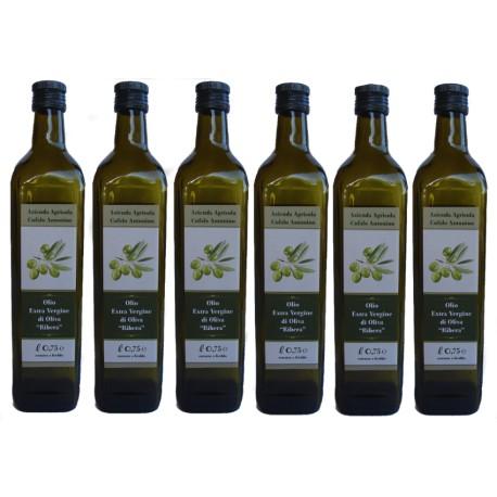 6 bottiglie di Olio extravergine di Oliva